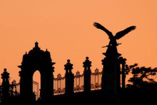 Hofburg im Sonnenuntergang, Budapest, Ungarn