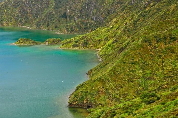 Wilder Lagoa do Fogo, Sao Miguel, Azoren, Portugal