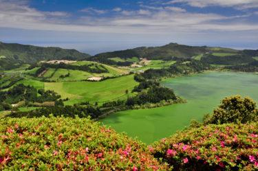 Lagoa das Furnas, Sao Miguel, Azoren, Portugal