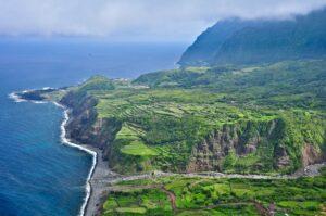 Steilküste, Flores, Azoren, Portugal