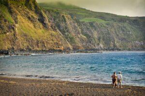Steilküste von Mosteiros, Sao Miguel, Azoren, Portugal
