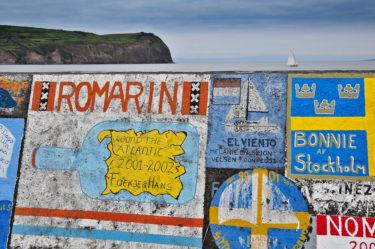 Der Hafen von Horta ist Anlaufpunkt für alle Segler nach Amerika, Faial, Azoren, Portugal