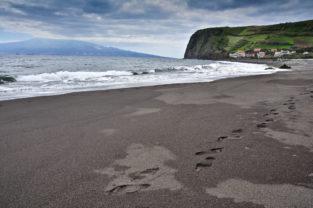 Lavastrand Praia do Almoxarife, Faial, Azoren, Portugal