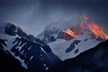 Alpenglühen am Mount Cook (Aoraki) , Southern Alps, Neuseeland