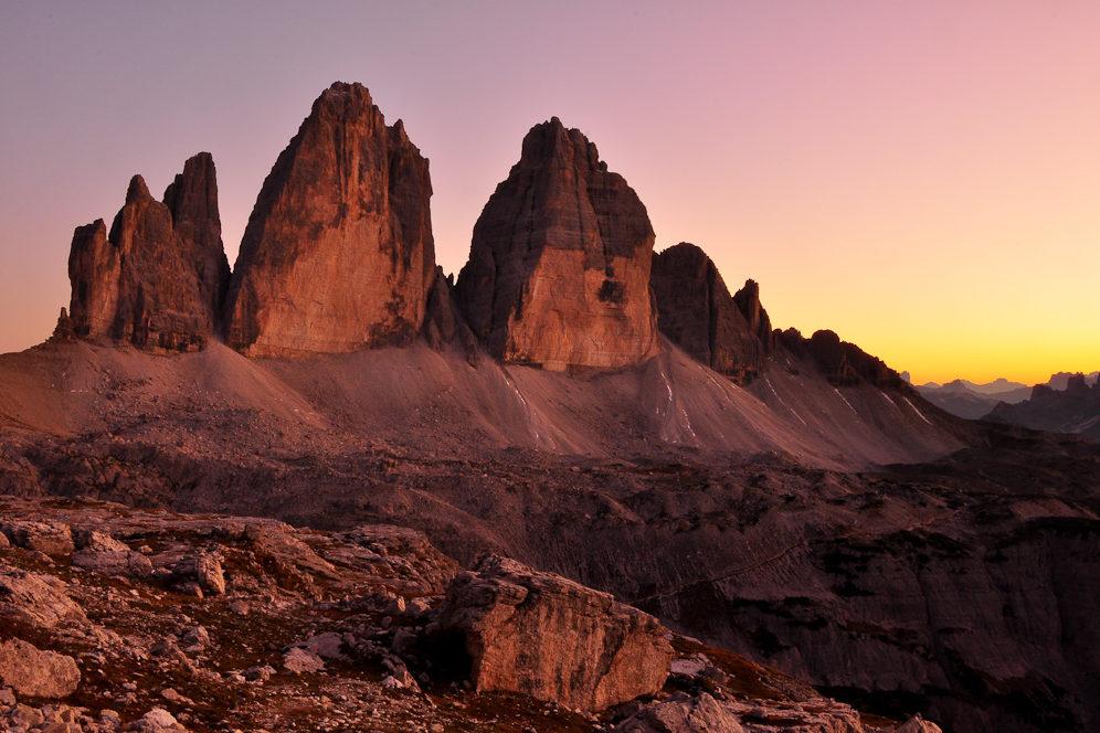 UNESCO-Weltnaturerbe Drei Zinnen, Südtirol, Italien