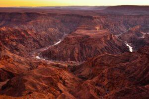 Fish-River-Canyon, zweitgrößter Canyon der Welt, Ai-Ais Richtersveld Transfrontier Park, Namibia