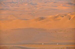Trans-Kalahari-Highway zwischen Walvis Bay und Swakopmund, Namibia