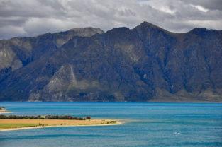 Lake Wakatipu vor der Kulisse der Remarkables, Otago, Südinsel, Neuseeland