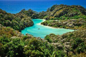 Frenchman Bay Lagoon, Abel Tasman Track, Südinsel, Neuseeland