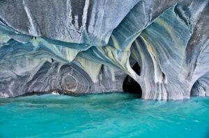 Marmorhöhlen im Lago General Carrera, Puerto Rio Tranquilo, Región Aysén, Chile
