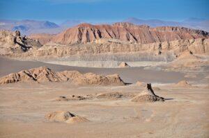 Mondlanschaft, Valle de la Luna, Atacama-Wüste, Región de Antofagasta, Chile