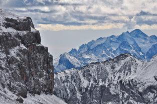 Winter in den Dolomiten, Südtirol, Italien