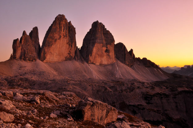 Drei Zinnen, Tre Cime di Lavaredo, Dolomiten Südtirol, Italien