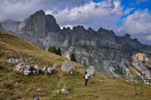 Wäsche in den Bergen, Dolomiten, Südtirol, Italien