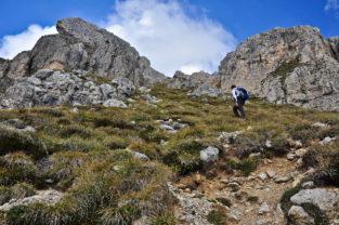 Wanderin in den Dolomiten, Südtirol-Trentino, Italien