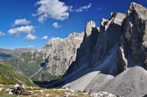 Wanderpause, Sextner Dolomiten, Südtirol, Italien