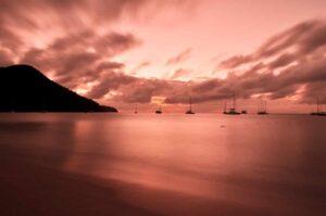 Strand von Reduit Beach, Rodney Bay, St. Lucia, Karibik