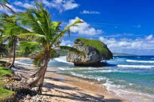 Strand von Bathsheeba, Barbados, Kleine Antillen, Karibik