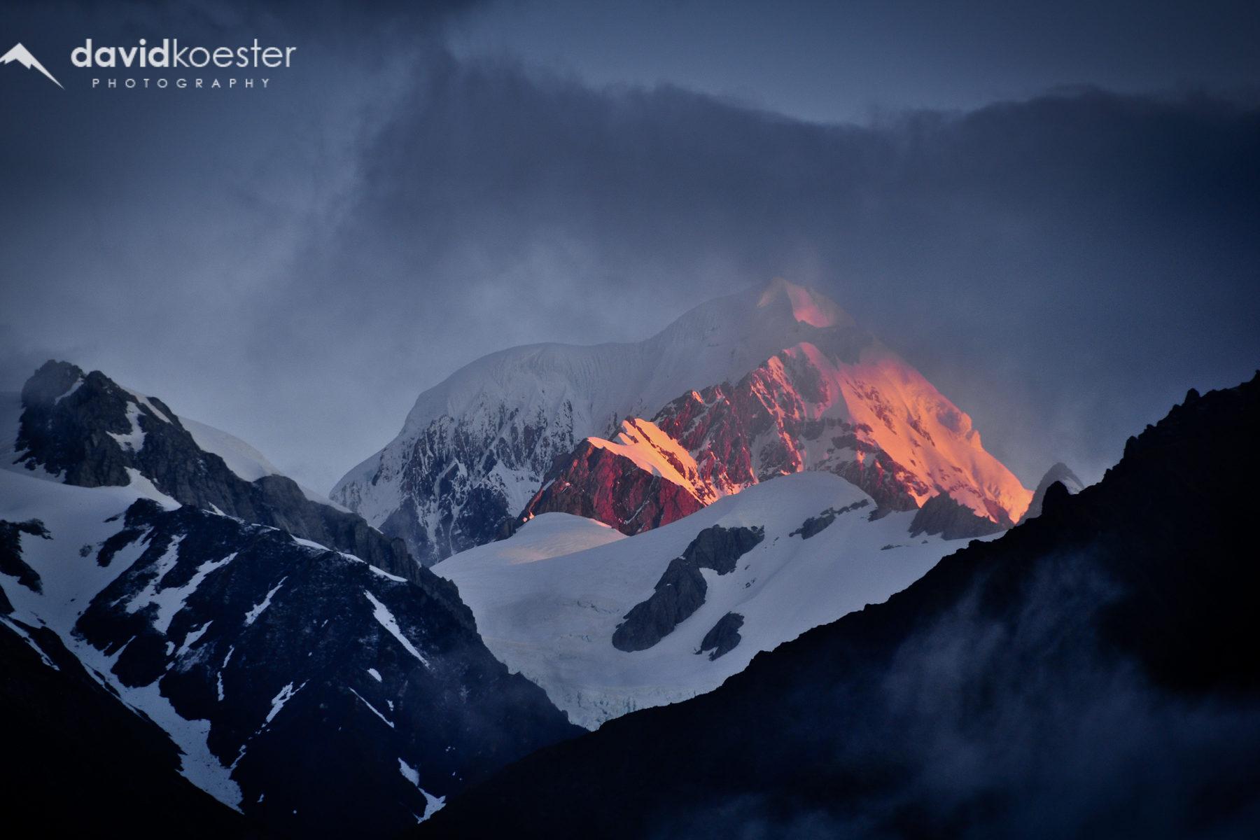 Neuseeland Wallpaper 1 | Mount Cook, Aoraki, Berge, Sonnenuntergang, Gebirge, Winter, Hintergrundbild, Desktopbild, Bildschirmhintergrund | 1920×1080