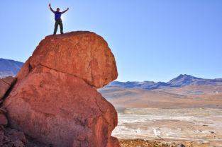 Gipfelglück auf 4.300 Metern, El Tatio Geyisrfeld, Región de Antofagasta, Chile