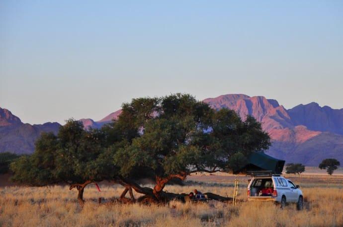 Camping in den Naukluft-Bergen, Namibia