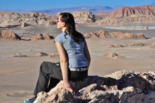 Trekking-Pause, Valle de la Luna, Atacama-Wüste, Chile