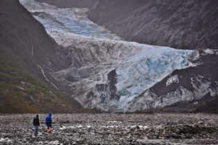 Trekking am Franz-Jospehs-Gletscher, Fiordland, Neuseeland