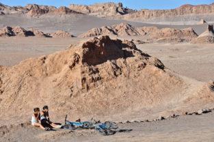 Biking-Pause, Valle de la Luna, Chile