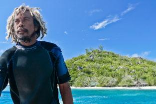 Fischer vor Felicité, Seychellen