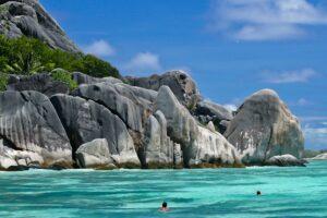 Strand von Anse Source d´Argent, La Digue, Seychellen