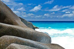 Granitfelsen auf Felicité, Seychellen