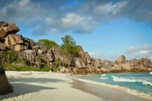 Strand von Grand Anse, La Digue, Seychellen