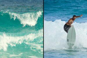 Wellenreiten im Indischen Ozean, La Digue, Seychellen