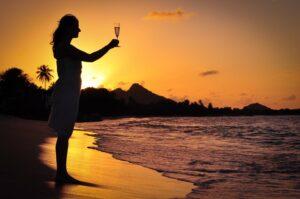 Sonnenuntergang auf Carriacou, Grenada, Karibik