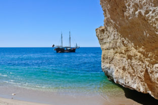 Strand von Armação de Pêra Algarve, Portugal