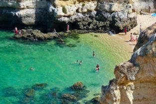 Strand von Praia do Camillo, Goldküste, Algarve, Portugal