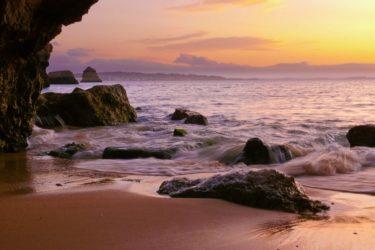 Felsenstrand Praia donna Ana, Algarve, Portugal
