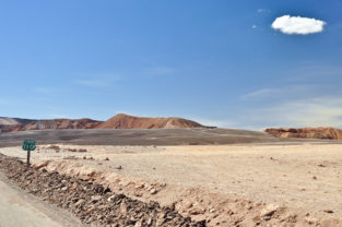 Wüstenstraße, Altiplano, Chile