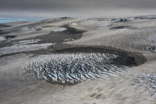 Eiswüste des Vatnajökull , Island