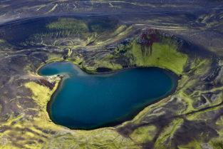 Kratersee, Veidivötn, Island