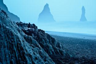 Dyrhólaey, Basaltformationan am Strand, Vík í Mýrdal, Island