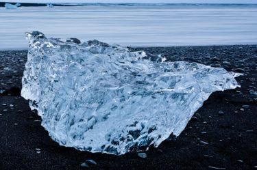 Eis am Gletschersee Jökulsárlón, Island