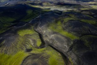 Vulkanlandschaft, Veidivötn, Luftbild, Island