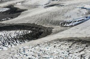 Gletscherspalten in der Eiswüste des Vatnajökull, Island