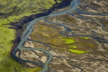 Flussdelta, Hochland, Island