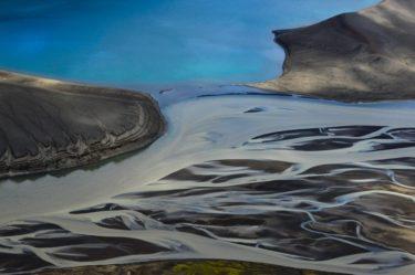 Flussmeander und Kratersee, Veidivötn, Island