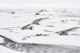 Schneelandschaft, Island