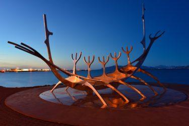 Skulptur Solfar (Sun Voyager), Reykjavik, Island