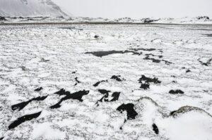 Schneelandschaft bei Höfn, Island