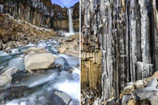 Wasserfall Svartifoss, Island